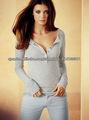 damas de algodón manga larga blusa equipado 2013