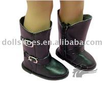 de la pu negro de 18 pulgadas zapatos de muñeca muñeca american girl botas
