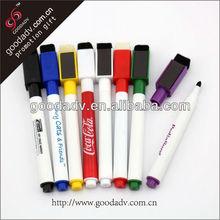 Color blanco marcador de la pluma/vacíos rotulador/rotuladores pizarra blanca de la pluma