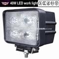 China fabricante 10-30v 4pcs*10w 40w led de luz de trabajo para el carro