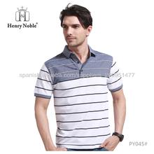 Fabricante profesional de algodón a rayas de encargo de los hombres camisetas
