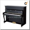 Negro modelo de enseñanza pulido 88 teclas en posición vertical / acústica / piano silencioso(AUP-120)