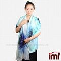 tela de bambú bufanda de algodón de las señoras bufanda de lana tejido de sarga bufanda