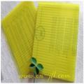 cor amarela Brasil ginásio parede de plástico folha de policarbonato