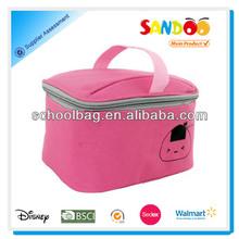 de dibujos animados de color rosa aislado almuerzo un bolso más fresco