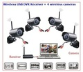 2.4 GHz de 4 canales kit de la cámara de la red inalámbrica digital
