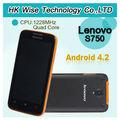 Original lenovo s750 1228 mhz quad core 1gb ram; rom 4gb max 1.2 ghz 960*540 4.2 android teléfono móvil