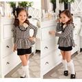 mayor ropa del bebé otoño de ropa para niños el servicio del oem de suministro tipo tela niños niña vestido de flores