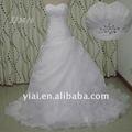 crystal jj2613 organza plissado saia de vestidos de noiva estilo country