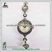 Niza delgada 3ATM impermeable mecanismo de relojería fina correa de japón del vintage