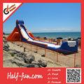 escorrega gigante inflável para fins comerciais com logo personalizado