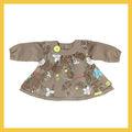 Caída 2014 impreso de lino- vestido de algodón para bebés para las niñas