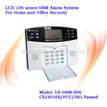 Sistema de alarmas de seguridad GSM y SMS para 106 zonas residenciales en español y en inglés
