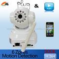 De alta resolución de la cámara del IP de la seguridad casera