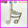2014 música de moda colgante nota/de diamantes de imitación nota musical de techo para la fabricación de #13456 collar