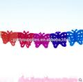 fabricante de papel decorativo borla de mariposas guirnaldas guirnaldas para la fiesta de cumpleaños de baby shower