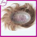 Sensación de 100% humanos cabello virgen brasileño pieza toupee hombres de pelo para los hombres de la pérdida