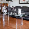 rectangular de acrílico claro al por mayor movimiento mesa nido