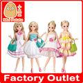 China fabricación de moda de muñecas, baby dolls con varios vestidos