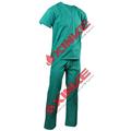 Eco amistoso verde uniforme de enfermera bata quirúrgica
