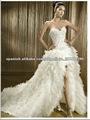 front volver a corto y largo vestido de novia