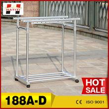 Portátil de aleación de aluminio de doble polo ropa telescópica rack 188a-d