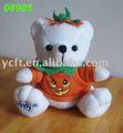 08905 halloween oso t camisa pumpkim con la impresión