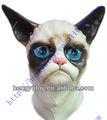 traje de fantasía máscara de látex de halloween máscara de gato vs 3d máscara