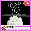 diamante especial diseño ampersand pastel de boda topper para decoración de la torta