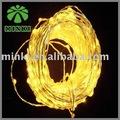 minki 10m de alambre de cobre amarillo de navidad de luz led string