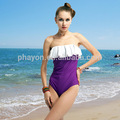 las niñas nueva moda del bikini de color púrpura oscuro elegante sujetador sin tirantes para las mujeres