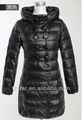 largo de la mujer hacia abajo chaqueta con capucha lz002