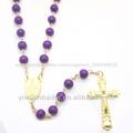 Batismo de lembranças, acrílico talão rosário, colares católica, triângulo metal links, jbh201401-03