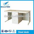 2014 nuevo diseño de metal de acero de doble escritorio de oficina
