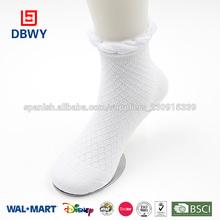 llano bebé calcetín de algodón blanco