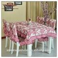 Pastoral de mantel de encaje, el diseño del bordado mantel, de color rosa bordado mantel