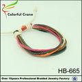 más barato popular multi color nudos macrame vintage pulsera pulsera de plástico