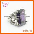 venta caliente últimos diseños del anillo de oro calidad alta anillo de circón violeta