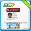 offset impresión plástico tarjeta de la foto identificación de la barato