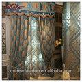 Cortina de china, diseño de la cortina para la sala, casablanca ojal- la parte superior del panel de la cortina