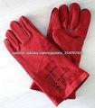 Color rojo de goma Algodón Guantes / guantes de látex / guantes de seguridad
