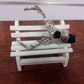 moda de la boda regalo de navidad de regalo mejor calidad venado forma de la cabeza de la botella de vino vertedor y tapón