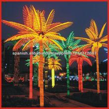 Amarillo rojo y proyecto de iluminación de la decoración 5m 300w led del árbol de palma/luz de coco con el ce y rohs