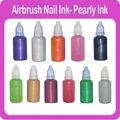 temporales del aerógrafo uñas nacarado de tinta 11 diferentes colores disponibles