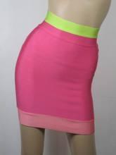 2014 rosa show sexy hip falda corta HL125