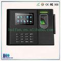 Sistema de reloj de tiempo biométrico de huellas digitales con batería de reserva Bio800