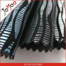 Joyoo 1.0mm impreso nubuck pu zapatos de cuero