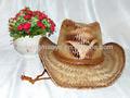 vaquero sombrero de paja con la correa