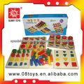 8 en 1 niños importados de madera de vietnam bloques de juguete