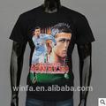 C- ronaldo 3d patrón de impresión de manga corta casual o de- el cuello t- shirt